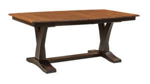 WEST POINT - Paris Trestle Table - Dimensions (in inches): 42x72 or 48x72 with up to four leaves - Custom finish options available, see store for details.