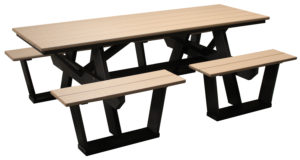 "CREEKSIDE - Split Bench Picnic Table (SPT809) 7' long, 57 1/2"" w (6' table optional)"