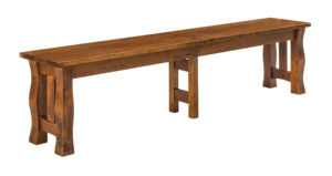 "WEST POINT - Reno Bench - Available Dimensions: 12.5"" x 48"", 12.5"" x 60"", 12.5"" x 72"". Comes in a solid top or up to 4 leaves."