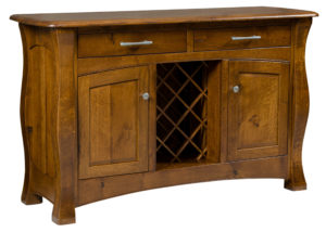 TOWNLINE - Reno Sideboard with Wine Rack - Dimensions (in inches): 20d x 63w x 38h - Custom features and finish options available, please see store for details.
