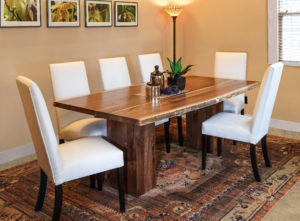 WEST POINT - Rio Vista Trestle and Sheldon Side Chairs Collection - Table Dimensions (in inches): 42x84, 42x96, 48x84, or 48x96 (solid top only) - All pieces sold separately - Custom finish options available, please see store for details.