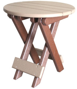 "CREEKSIDE - Round Folding End Table (RFT17) 17"" Round Top"