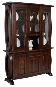 TOWNLINE - Saratoga 3-Door Hutch - Dimensions (in inches): 20d x 60w x 84.5h - Custom features and finish options available, see store for details.