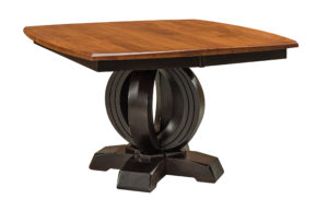 WEST POINT - Saratoga Single Pedestal Table - Dimensions (in inches): 48 x 48, 54 x 54, or 60 x 60 with up to two leaves - Custom finish options available, see store for details.