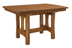 "WEST POINT - Sheridan Trestle Table - Dimensions (in inches): 36x48, 36x54, 36x60, 42x48, 42x54, and 42x60 with up to three 12"" leaves - Custom finish options available, see store for details."