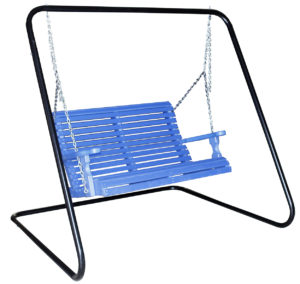 "CREEKSIDE - 4 Foot Rollback Porch Swing (RB85) and Metal Swing Frame (MAF80) - Size: 4 foot Swing, 84""w x 70""d x 71""h Frame that can accommodate 4 and 5 foot Swings."