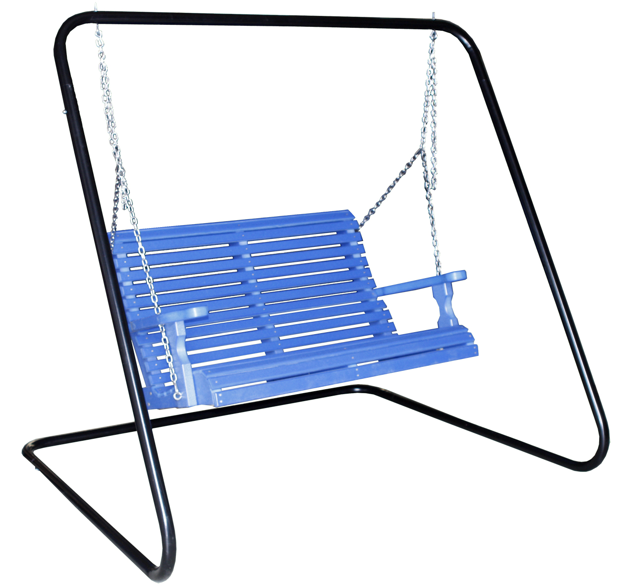 creekside 4 foot rollback porch swing rb85 and metal swing frame maf80 - Metal Swing Frame