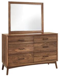 SCHWARTZ-Tuscan Walnut Dresser with Mirror See store for details