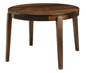 "WEST POINT- Bellaire Leg Table Available in 44"" and 50"" round 1"" round top with Mission edge is standard Legs standard as shown (no options) Available in Brown Maple only"