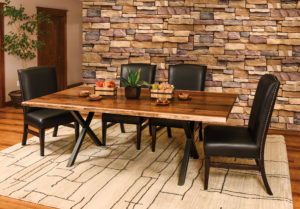 WESTPOINT - Xavier Trestle and Corbin Side Chairs Collection - Table Dimensions (in inches): 42x72, 42x84, 42x96, 48x72, 48x84, or 48x96 (solid top only) - All pieces sold separately - Custom finish options available, please see store for details.