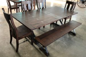 COUNTRY ROAD - Diamond Top Double Trestle See store for pricing and dimensions